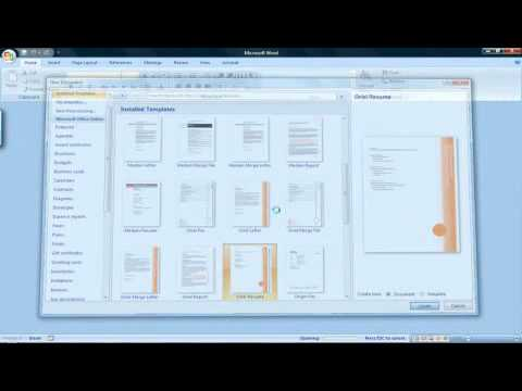 How to Create a Resume With Microsoft Word 2007