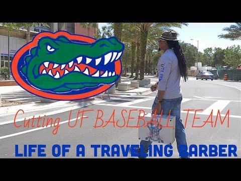 Florida Gators Baseball Team Get a Haircut 4K / Life of a Traveling Barber