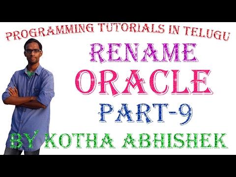 Change (Rename) Table Name in Oracle in Telugu