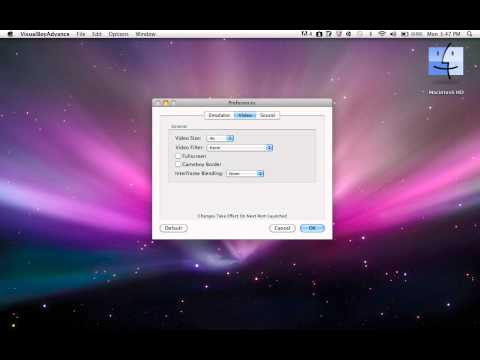 How to change the screen size for visual boy advanced [MAC]