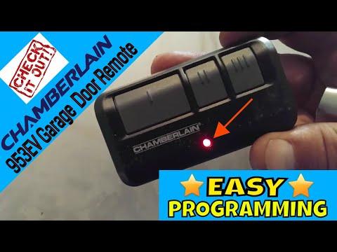 Chamberlain 953EV Garage Door Opener Remote Programming Video