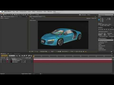 Tutorial 68 - 3 Steps - Import 3D OBJ Models into After Effects Tutorial