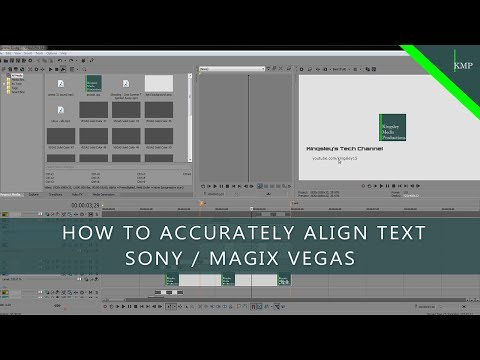 How To Accurately Align Text - Sony / Magix Vegas Tutorial #1