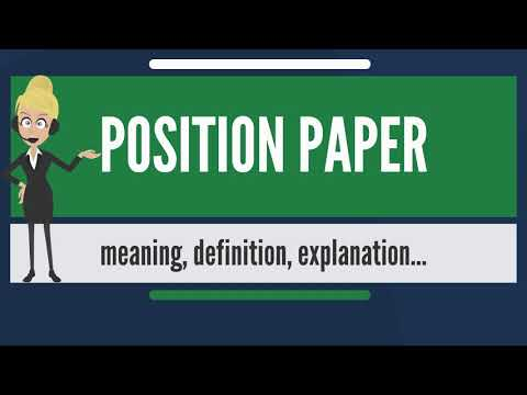 What is POSITION PAPER? What does POSITION PAPER mean? POSITION PAPER meaning & explanation