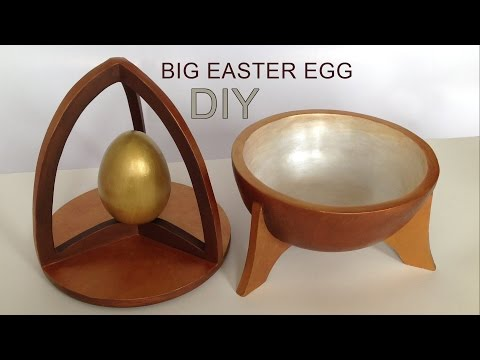 DIY ideas - Cardboar Paper Mache Rack for Easter eggs HD