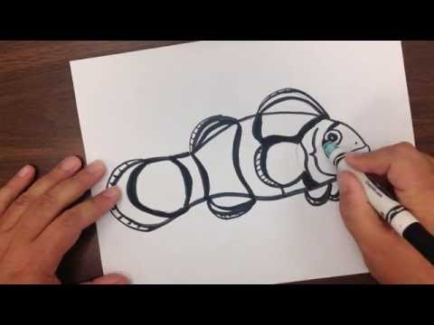 How to Draw and Color a Clownfish