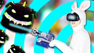 VR Bunny Defense! - Hangry Bunnies From Mars Gameplay - VR HTC Vive