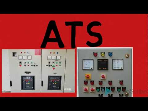 Automatic transfer switch /Automatic generator changeover switch / control diagram
