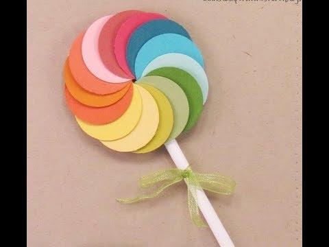 Paper Lollipop Using Plain Paper | How To Make Paper Lollipop Origami