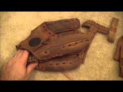 Vintage Wilson A3000 Baseball Glove - Before and After Glove Relace