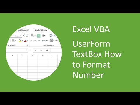 Excel VBA UserForm TextBox - How to format number