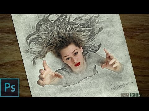 3D Sketch Drawing Effect — Photoshop Tutorial