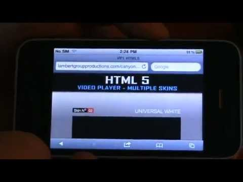 IOS (Iphone) test - HTML5 Video Player with Multiple Skins