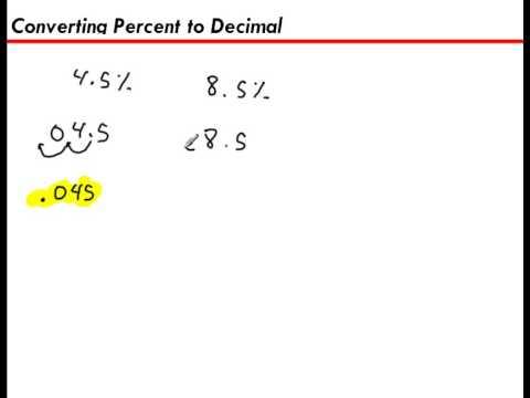 Converting a Percent to a Decimal (4.5%)