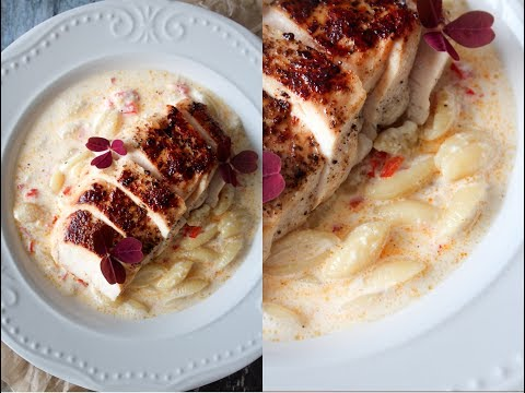 How To Make Feta Cheese Sauce With Pasta And Chicken - Your Wish Wednesday - By One Kitchen