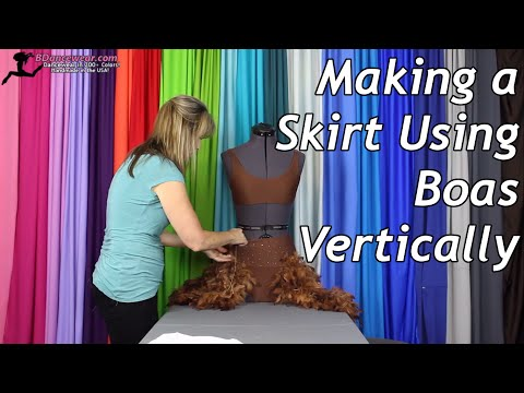 Making a Skirt Using Boas Vertically