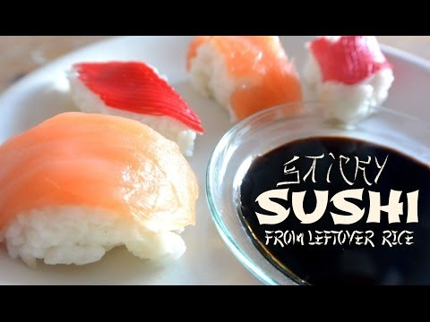 Simple trick to make sushi out of leftover rice. How to make leftover rice sticky again?