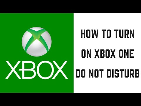 How to Turn On Xbox One Do Not Disturb Status
