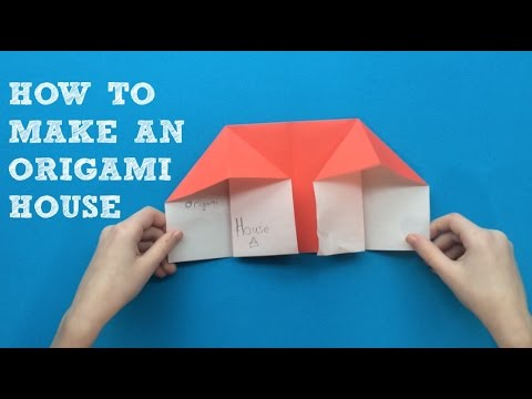 How to Make an Origami House (EASY)