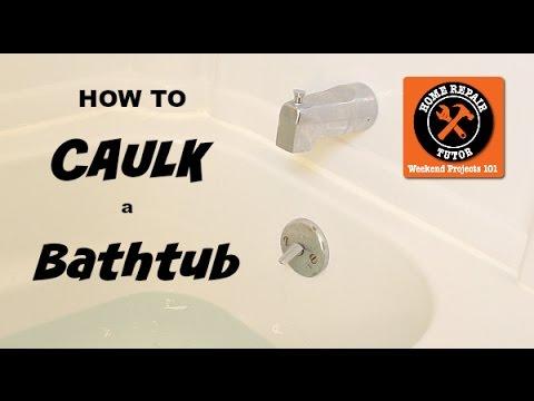 How to Caulk a Bathtub (Beautiful Results) -- by Home Repair Tutor