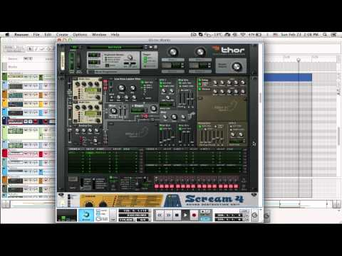 Making of drum and bass тrack in reason 5 reason tutorial drum.