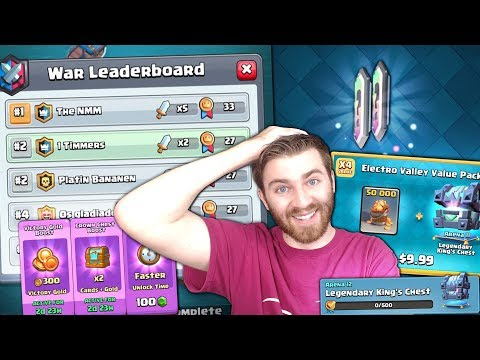 NEW BEST QUEST CHEST FINALLY & NEW OFFER BOOSTS WORTH IT? | Clash Royale INSANLY CLOSE CLAN WAR!
