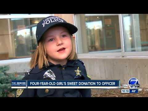 Girl, 4, donates piggy bank money for Longmont officer battling cancer