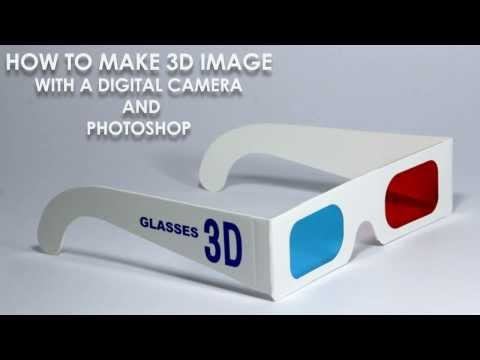 How to make 3D image with a Digital Camera and Photoshop