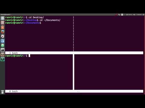 customize your terminal: split your terminal into multiple parts | Ubuntu 16.04