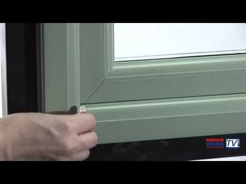How to cover a scratch or mark on a uPVC window, using a Konig edging pen