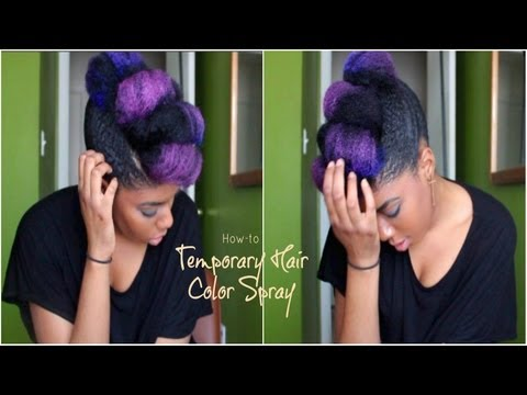 How-To Temporary Color Hair (Spray)