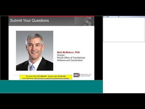 NHLBI Product Development Support Services Informational Webinar