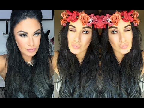 How To - Ombre Blue Grey hair - Bellami Lilly hair