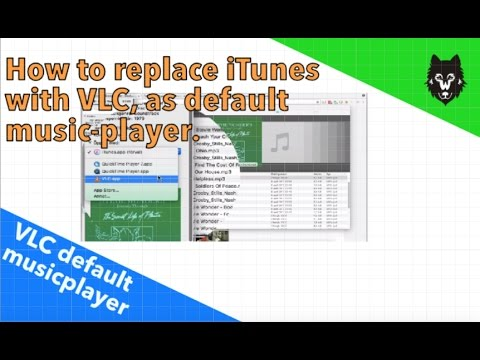 How to replace iTunes with VLC as default musicplayer (MAC OSX).