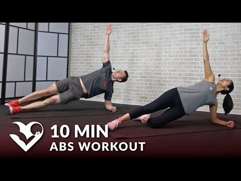 10 Minute Abs Workout for Men & Women - 10 Min Abs Workout at Home Routine - Ab Exercises