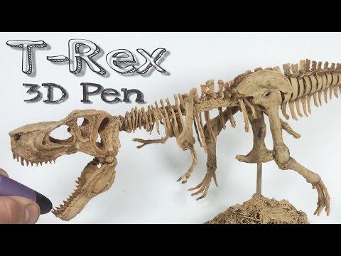3D Pen Creations | Making a realistic T-Rex skeleton | 3D Pen Art | Time lapse | T Rex