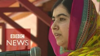 Malala turns 18 and opens a school for Syria girls - BBC News