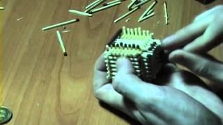 How to make a match house / Делаем домик из спичек.