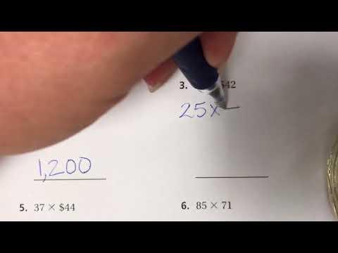 4th Grade Go Math 3.2 - Estimate Products