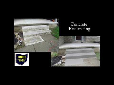 How To Resurface Concrete Steps / Cement Stair Repair /Repairing Concrete Salt Damage