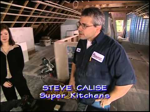 Installing High-Gloss Laminate Cabinets and Surell Countertops