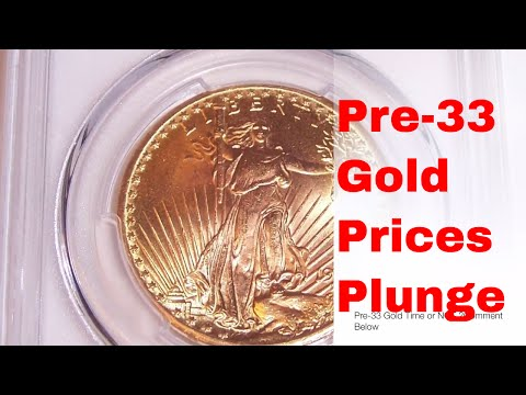 Pre 33 US Gold Eagle Prices Plunge.  Time to buy or sell?