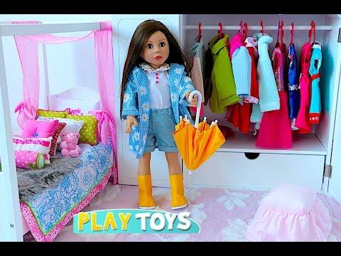 Baby Doll House toy play dolls closet wardrobe dress up American girl doll & dollhouse furniture