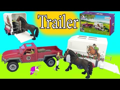Schleich Horses Club Truck and Horse Trailer Playset with Friesian Mare