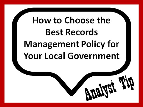 Choosing the Best Records Management Policy for Your Local Government