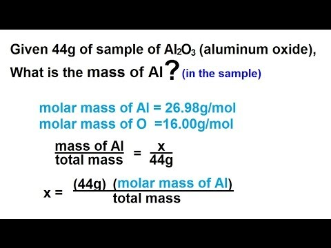 Chemistry - Atoms, Molecules, and Ions (11 of 23) Calculating a Mass in a Sample