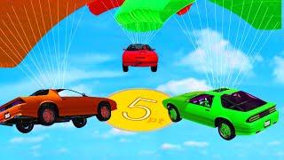 PARACHUTE CAR DARTING ON GTA 5! (GTA 5 Funny Moments)