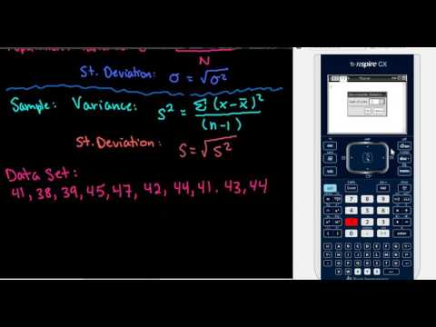 Variance and Standard Deviation with the TI-Nspire