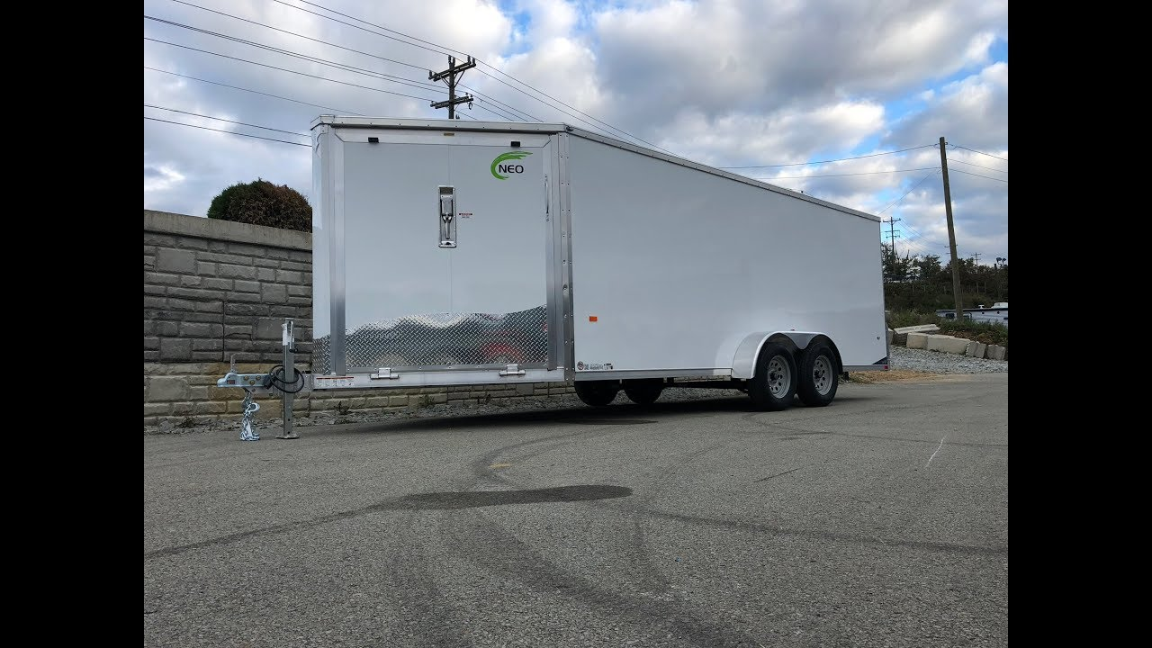Neo 7x22' Aluminum Enclosed All-Sport Snowmobile Trailer 3-place Sled Hauler NAS227TF