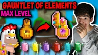 GETTING MAX LEVEL GAUNTLET OF ELEMENTS | Growtopia